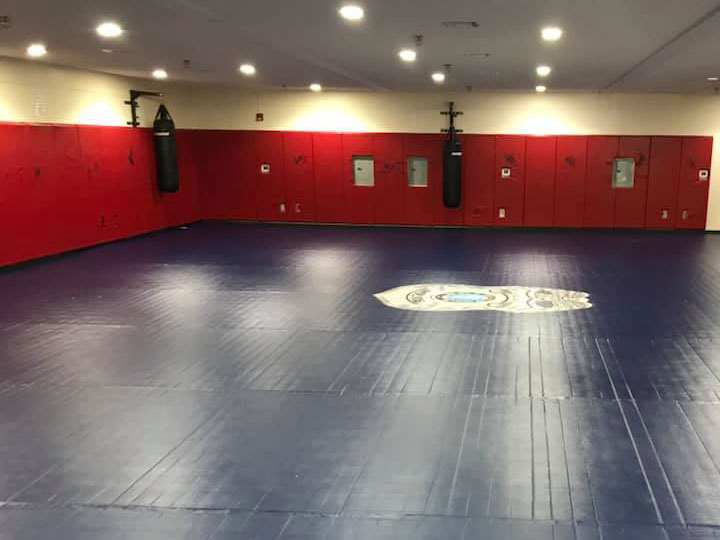 Boxing ring wall padding by TW Promotions, Inc