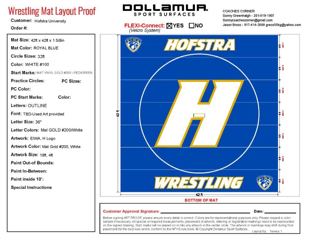 Hofstra-Dollamur Wrestling Mat by TW Promotions, Inc.